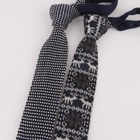 5cm Knitted Necktie for Mens Knitting Neck Ties for Wedding Business Formal Suits Knit Slim Tie Gravata Custom Logo