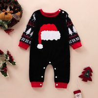 baby Girl Boy Christmas clothing Rompers Long Sleeve O-neck Deer Print romper 100% cotton Spring Fall Warm 0-12 Months