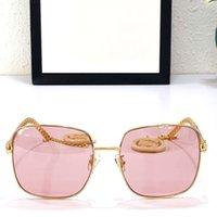 GG0724S 선글라스 UV 보호 패션 레이디 디자이너 Sunglassess 금속 전체 프레임 절묘한 마법 펜던트 브랜드 안경 원래 상자