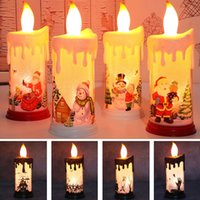 Halloween Christmas Decoration LED Light Simulation Flame Candle Santa Claus Snowman Decorations Night Lights Free DHL HH21-641