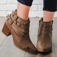 Monerffi Haute talon Femme Bottes et boucle à la cheville Femmes Femme Femme Mode Principale 2019 Hiver Nouvelle mode Tendance de mode Bootie Achetez des chaussures en ligne sur O2RK #