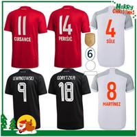 20 21 Bayern Coutinho Vidal Lewandowski Muller Robben Sule Sane Ev Futbol Formaları 2020 Yetişkin Erkekler + Çocuk Seti Spor Futbol Gömlek