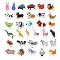 المشي الحيوانات الأليفة البالونات الحيوان الهيليوم الألومنيوم الكرتون الألومنيوم السينمائي بالونات متعدد الألوان جميلة غابة الحيوان بالون عيد ميلاد 227 S2
