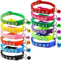 12 colori Pet Dog Cat Collar Regolabile Dog Cat Collar con campana Pet Bell Collar for Cat Small Dogs Accessori per animali domestici WLL14