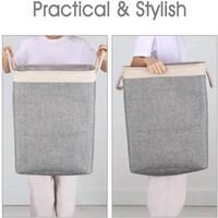 Nuevo bolso de lavandería plegable papelera plegable lavado de ropa sucia ropa de lavandería Cesta portátil Lavandería Bolsas de almacenamiento Sea Shipping CCA3839