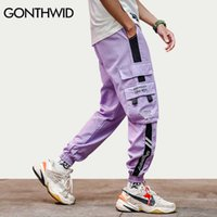 Gonthwid Color Block Cargo Harem Joggers Pantalon Pantalon Hip Hop Casual Baggy Sweatpants Streetwear Fashion Hipster Pantalons Pantalons X0721