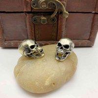 DIY ожесточенные клыки скелет латунный брелок цепь цепь креативного подарка нож ручной имитация sier подвеска чистый медь EDC