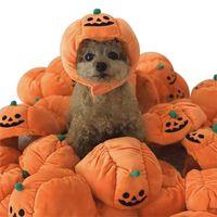 dog cat Halloween Festival Dress Up Pumpkin adjustable Hat Pet Accessories Caps For Dogs Hats Pets Costume Cosplay