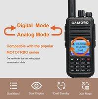 Walkie Talkie Camoro DMR Rádio Digital GPS Long Range Ham Amador 10W VHF UHF Dual Band para Motorala