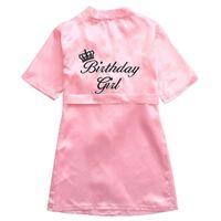 Дети Pajamas халат атласные дети кимоно одежда рождения подарок на день рождения цветок девушка платье шелковый халат ночная рубашка детский халат 5 размеров 484 y2
