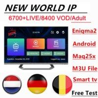 2021 M3U Alta Limpa 4 K Antena Suporte TV inteligente, IPTV Android e iPhone, na França, Europa e Estados Unidos