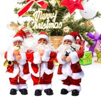 Christmas Decorations 1PC Electric Santa Claus Singing Birthday Music Xmas Child Gril Gifts Party Festive Doll Ornaments