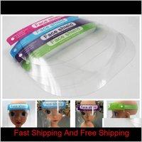 Kids Children Safety Faceshield Transparent Full Face Cover Protective Film Tool Anti-Fog Face Shield Designer Masks 300Pcs Rra3045 Ci Zfht8