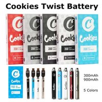 Cookies Twist Battery 350 900mAh USB Chargers Blister Kits Individual Package 5 Colors Variable Voltage Battries For 510 Thread
