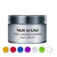 Mofajang волосы воск стиль крепкого стиля восстановление помада большой скелет скончатый 7 цвет