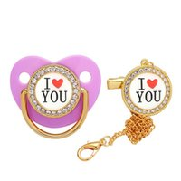 Pacifiers# Chupeta De Luxo I Love You Baby Pacifier Kid Playing With Mouth Silicone Chupetes Para Bebes Tetine Chupetero