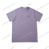 21ss hombres mujeres diseñador t shirts polos letra bordado tela lisa paris vestido de manga corta hombre camisa etiqueta púrpura azul negro 05