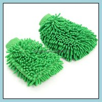 Household Housekee Organization & Gardendouble Sided Wash Gloves Motorcycle Vehicle Cleaning Mitt Glove Equipment Home Duster Colorf Car Too