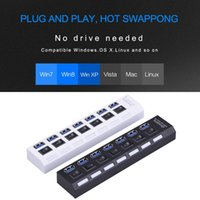 7 Ports usb hub LED USB High Speed 480 Mbps Adapter USB Hub With Power on off Switch For PC Laptop Computer PC Laptop With ON OF