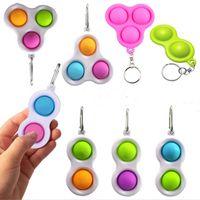 Fidget Simple Llavero llavero Burbuja Poppers Niños Dedo Toy Sensory Squeeze Toys Squishies Balls Anti Ansiedad Poo-su H25P7KR