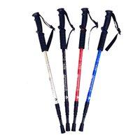 Caminando bastón trekking polos caminando palo telescópico batón nórdico aluminio campamento de esquí al aire libre senderismo polos muletas
