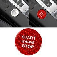 Button Sticker Cover Cap Portable Car Unique Parts Engine Start Stop Ornaments for Audi A3 A4 A5 A6 C5 C6 Q5 Q7 S7