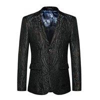 2021 Bom patttern ternos homens 1 peça magro encaixar homem escuro tuxedo jaqueta grande tamanho grande # 825 G30B