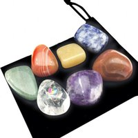Other Event & Party Supplies Chakra Seven Energy Stone Natural Crystal Yoga Meditation Healing Gemstone Beads Ball Mine