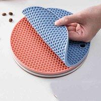 고무 potholder 테이블 매트 주방 냄비 매트 코스터 그릇 책상 미끄럼 방지 패드 라운드 장식 액세서리 절묘한 WZG TL0477