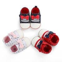 First Walkers Infants Soft-Soled Shoes Girl Socks Walking Anti-Slip Polka Dot Printed Bowknot Decoration Spring Fall Sneaker