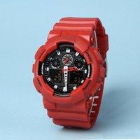2021 Продажа досуга спортивные мужские светодиодные цифровые часы автоматические рука поднимают лампу Ga100 водонепроницаемый и ударопрочный мировой мир