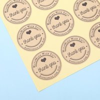 Gift Wrap 120xHeart Thank You Adhesive Kraft Label Seal Sticker Bag Decor Cake Candy