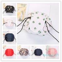 Vely Lazy Cosmetic Bag Flamingo Unicorn 인쇄 Drawstring 가방 메이크업 큰 소녀 핸드백 여행 휴대용 화장품 파우치 6 스타일