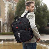 Backpack Multifunctional Male Fashion Nylon Solid Color 2021 Knapsack Men Casual Vintage Travel Bag Supplies