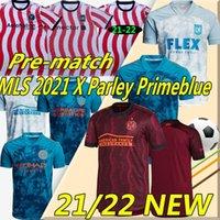 MLS X Parley Primeblue 2021 Футбол Джетки INTERBLUE INTER Miami Lafc La Galaxy Atlanta United DC Philadelphia Orlando New York City Pre-Match Учебная рубашка Футбол Джерси