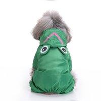 Abrigos de lluvia para perros Chaqueta impermeable de ropa Jumpsuit de perros Lindos Mascotas Impermeable para Pequeña Pequeña Ropa Impermeable Puppy Coat 106 V2