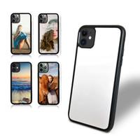 İPhone 7 8 x XR XS Max 12 Süblimasyon Kılıfları, TPU PC 2D Sert Boş Süblimasyon Cep Telefonu Kılıfı Samsung S10 S20 Funda için