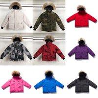 Kids Down Coat Winter Jacket Outdoor Boy Girl Baby Odzież Odzież Odzież Ciepłe Kurtki Z Kapturem Sportswear Classic Parkas Nurcoat 10 Style 100-150