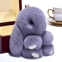 Keychains 18cm Fashion Rex Furs Monster Keychain Ring Holder Pendant Bag Car Charm Tag Fluffy Toy Doll Fur