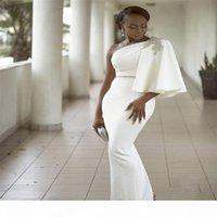아소 에비 2K17 이브닝 드레스 흑인 소녀를위한 하나의 어깨 구슬 크리스탈 인어 공식 댄스 파이프 새틴 공식 결혼식 게스트 드레스 파티 가운