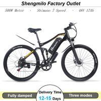 27,5 Zoll Erwachsene Elektrische 500W Mountainbike 48V 17AH Lithium Batterie Fahrrad Off-Road 40km / h Ebike Shengmilo M60