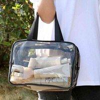 Acrddk Portable Clear Makeup для женщин Молния Водонепроницаемая Косметика Сумка Прозрачная Путешествия ПВХ Туалетная Индикация Укладки Мешочек