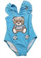عالية الجودة الصيف الساخن طفل صغير ملابس السباحة طفل الفتيات بيكيني ملابس السباحة قطعة واحدة ملابس بذيلات الملابس السباحة يرتدي