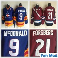 Enfants Vintage Colorado Avalanche N ° 9 Landanny McDonald Hockey Jersey Retro CCM Youth Boys Enfants cousus 21 Peter Forsberg Maillots