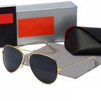 Hochwertige Ray Männer Frauen Sonnenbrille Vintage Pilot Marke Sonnenbrille Band UV400 Bans mit Box und Fall 3025