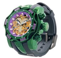 Unbesiegbare Uhr DC Comic Clown Men Quarzuhr 52.5mm Wasserdichte Uhr mit rotierendem Zifferblatt Komplettkalender Relógio Masculino