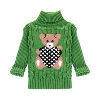 Sundae Angel Casual Boy Sweaters For Kids Long Sleeve Wool Turtleneck Cartoon Pattern Spring Autumn&Winter Child Girls Pullover 210308
