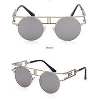 Occhiali da sole in telaio grande moda per uomini e donne Occhialole da sole 8 colori ciclismo occhiali rotondi.