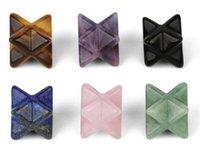 "Wholesale Garden Decorations Quartz Crystal Points Merkaba Star för Healing Stones Reiki Spiritual Divine Therapy Energy, Pocket Stone Eight-Pointed Stars 1 """