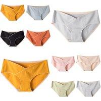 Maternity Panties Women Fashion Cross Pregnant Underwear Low Waist Underpants Soft Comfortable Breathable Pure Cotton Briefs